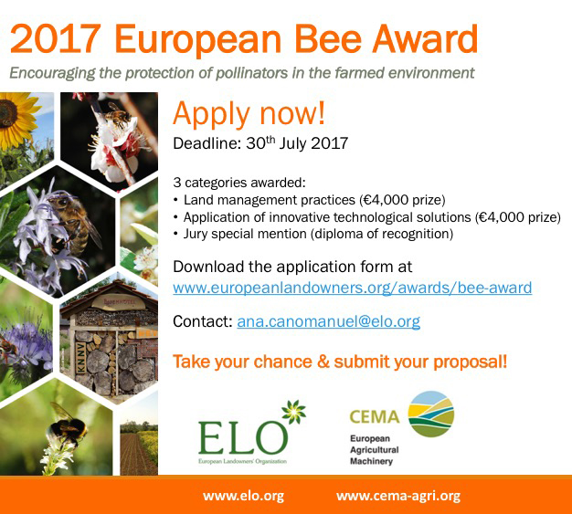 EU Bee Award call for applications 2017 for web